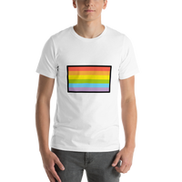 Emoji T-Shirt Store | Rainbow Flag emoji t-shirt in White