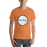 Emoji T-Shirt Store | Cooked Rice emoji t-shirt in Orange