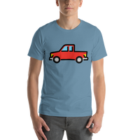 Emoji T-Shirt Store | Pickup Truck emoji t-shirt in Blue