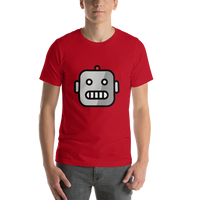 Emoji T-Shirt Store | Robot emoji t-shirt in Red
