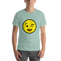 Emoji T-Shirt Store | Winking Face emoji t-shirt in Green
