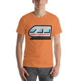Emoji T-Shirt Store | Light Rail emoji t-shirt in Orange