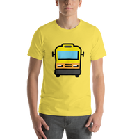 Emoji T-Shirt Store | Oncoming Bus emoji t-shirt in Yellow