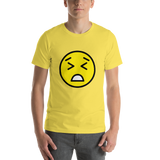 Emoji T-Shirt Store | Persevering Face emoji t-shirt in Yellow