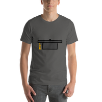 Emoji T-Shirt Store | Graduation Cap emoji t-shirt in Dark gray