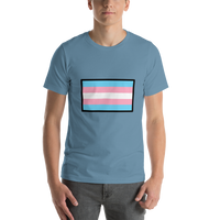 Emoji T-Shirt Store | Transgender Flag emoji t-shirt in Blue