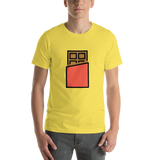 Emoji T-Shirt Store | Chocolate Bar emoji t-shirt in Yellow