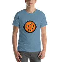 Emoji T-Shirt Store | Shallow Pan Of Food emoji t-shirt in Blue