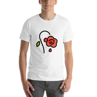 Emoji T-Shirt Store | Wilted Flower emoji t-shirt in White