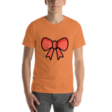 Emoji T-Shirt Store | Ribbon emoji t-shirt in Orange