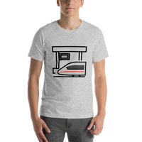 Emoji T-Shirt Store | Station emoji t-shirt in Light gray