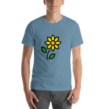 Emoji T-Shirt Store | Sunflower emoji t-shirt in Blue