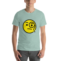 Emoji T-Shirt Store | Face With Monocle emoji t-shirt in Green