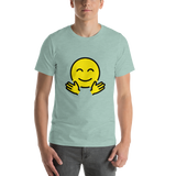 Emoji T-Shirt Store | Hugging Face emoji t-shirt in Green