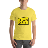 Emoji T-Shirt Store | Cheese Wedge emoji t-shirt in Yellow