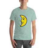 Emoji T-Shirt Store | First Quarter Moon Face emoji t-shirt in Green