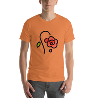 Emoji T-Shirt Store | Wilted Flower emoji t-shirt in Orange