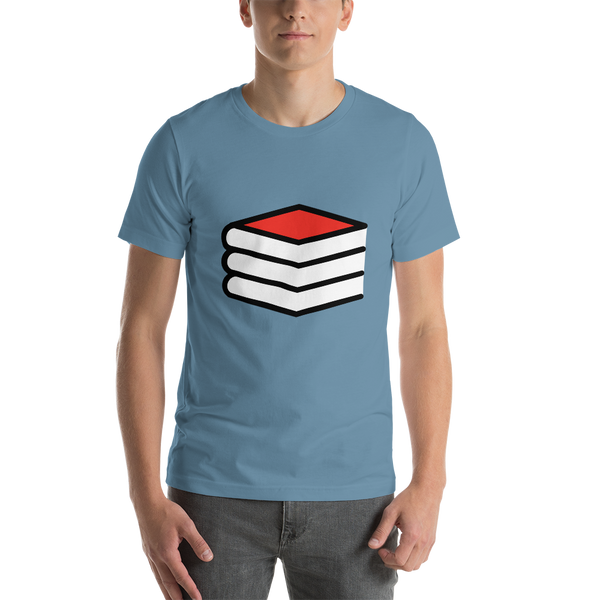 Emoji T-Shirt Store | Books emoji t-shirt in Blue