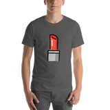 Emoji T-Shirt Store | Lipstick emoji t-shirt in Dark gray