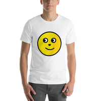 Emoji T-Shirt Store | Full Moon Face emoji t-shirt in White