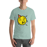 Emoji T-Shirt Store | Partying Face emoji t-shirt in Green