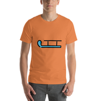 Emoji T-Shirt Store | Sled emoji t-shirt in Orange