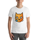 Emoji T-Shirt Store | Crying Cat emoji t-shirt in White