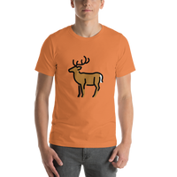Emoji T-Shirt Store | Deer emoji t-shirt in Orange
