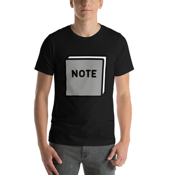 Emoji T-Shirt Store | Notebook emoji t-shirt in Black