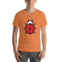 Emoji T-Shirt Store | Lady Beetle emoji t-shirt in Orange