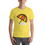 Emoji T-Shirt Store | Umbrella On Ground emoji t-shirt in Yellow