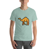 Emoji T-Shirt Store | Camel emoji t-shirt in Green