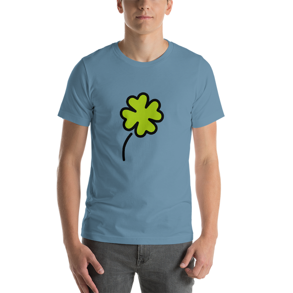Emoji T-Shirt Store | Four Leaf Clover emoji t-shirt in Blue