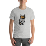 Emoji T-Shirt Store | Owl emoji t-shirt in Light gray