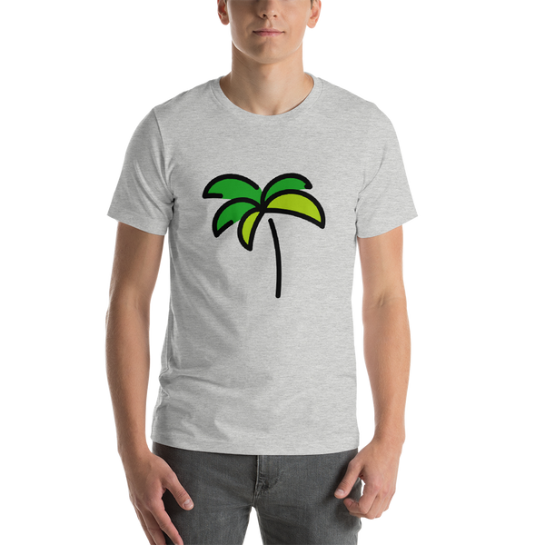 Emoji T-Shirt Store | Palm Tree emoji t-shirt in Light gray