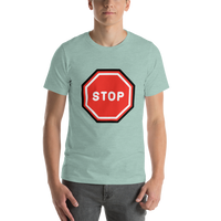 Emoji T-Shirt Store | Stop Sign emoji t-shirt in Green