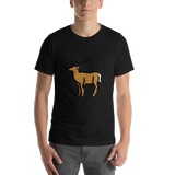 Emoji T-Shirt Store | Deer emoji t-shirt in Black