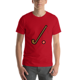 Emoji T-Shirt Store | Field Hockey emoji t-shirt in Red
