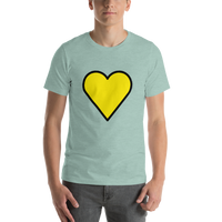 Emoji T-Shirt Store | Yellow Heart emoji t-shirt in Green