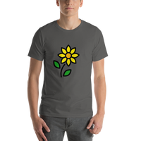 Emoji T-Shirt Store | Sunflower emoji t-shirt in Dark gray