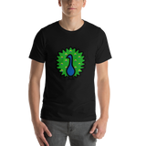 Emoji T-Shirt Store | Peacock emoji t-shirt in Black