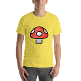 Emoji T-Shirt Store | Mushroom emoji t-shirt in Yellow