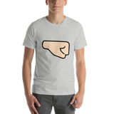 Emoji T-Shirt Store | Right Facing Fist, Light Skin Tone emoji t-shirt in Light gray