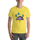 Emoji T-Shirt Store | Umbrella With Rain Drops emoji t-shirt in Yellow