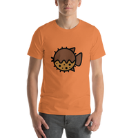 Emoji T-Shirt Store | Blowfish emoji t-shirt in Orange