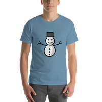 Emoji T-Shirt Store | Snowman Without Snow emoji t-shirt in Blue