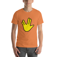 Emoji T-Shirt Store | Vulcan Salute emoji t-shirt in Orange