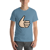 Emoji T-Shirt Store | Thumbs Up, Light Skin Tone emoji t-shirt in Blue