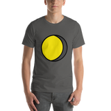 Emoji T-Shirt Store | Waning Gibbous Moon emoji t-shirt in Dark gray