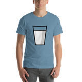 Emoji T-Shirt Store | Glass Of Milk emoji t-shirt in Blue